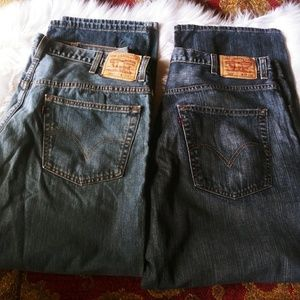 2 pairs of Mens 559& 569 Levis jeans